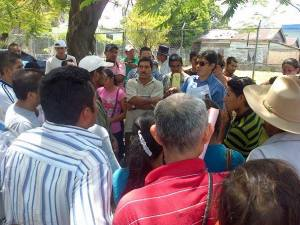 Demonstration outside the Public Prosecution Service building in La Ceiba on August 9, 2013
