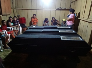 Families mourn for three community members killed while opposing illegal mining (PROAH)